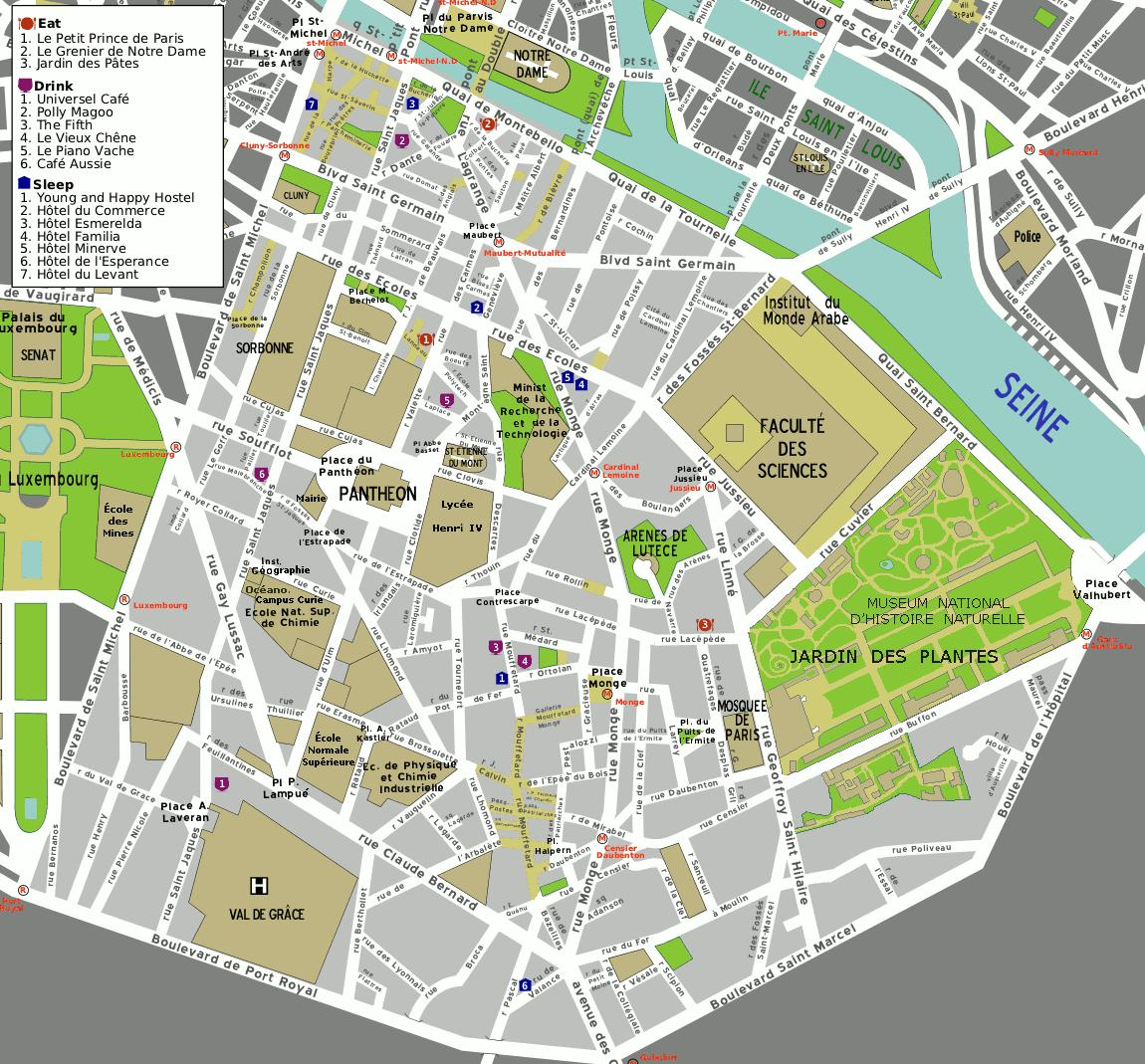 Cartina Dei Quartieri Di Parigi