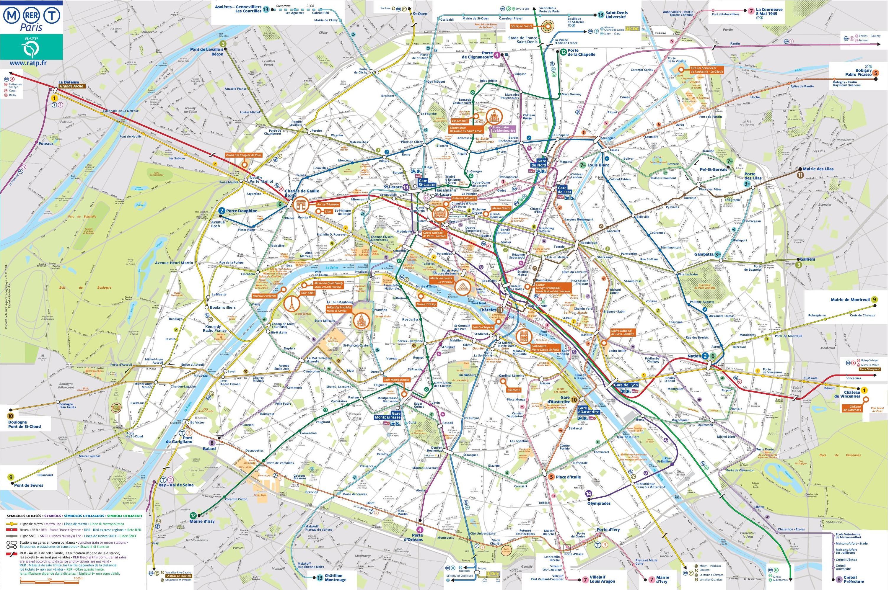 Cartina Mezzi Pubblici Parigi.Parigi Trasporto Mappa Di Parigi Mappa Dei Trasporti Pubblici Ile De France Francia