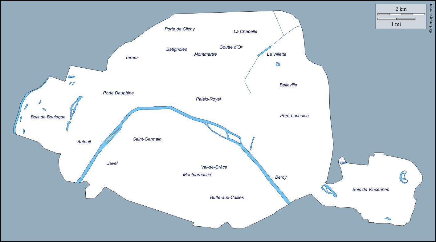 Cartina Politica Di Parigi.Parigi Contorno Mappa Cartina Di Parigi Contorno Ile De France Francia