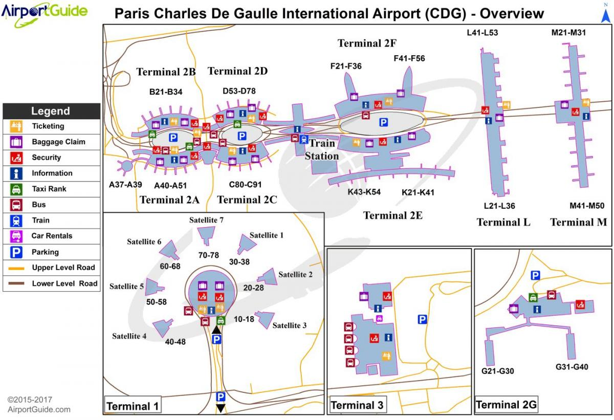 charles de gaulle airport terminal mappa