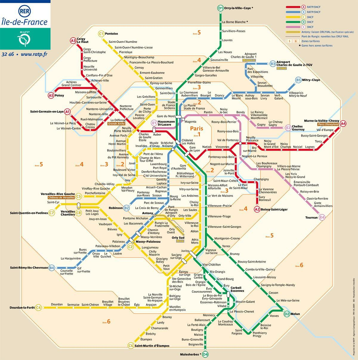 Cartina Metro Parigi Pdf.Metropolitana Di Parigi Mappa Zone Parigi Mappa Zone Della Metropolitana Ile De France Francia
