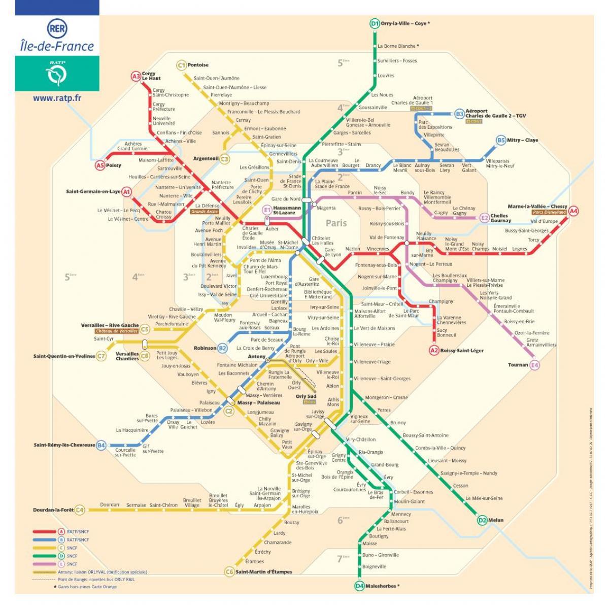 Cartina Di Parigi E Dintorni.Parigi Viaggio Di Zone Di Mappa Cartina Di Parigi Zone Di Viaggio Ile De France Francia