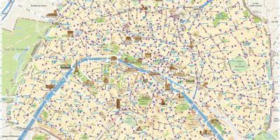 Cartina Parigi Con Quartieri.Parigi Quartiere Mappa Parigi Francia Quartiere Mappa Ile De France Francia